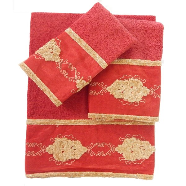 Isaiah 3 Piece 100% Cotton Towel Set by August Grove